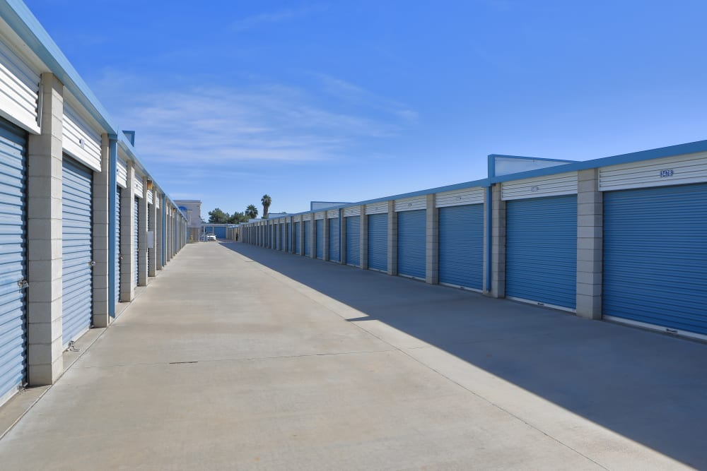 Outdoor storage units available at Storage Solutions in Moreno Valley, California