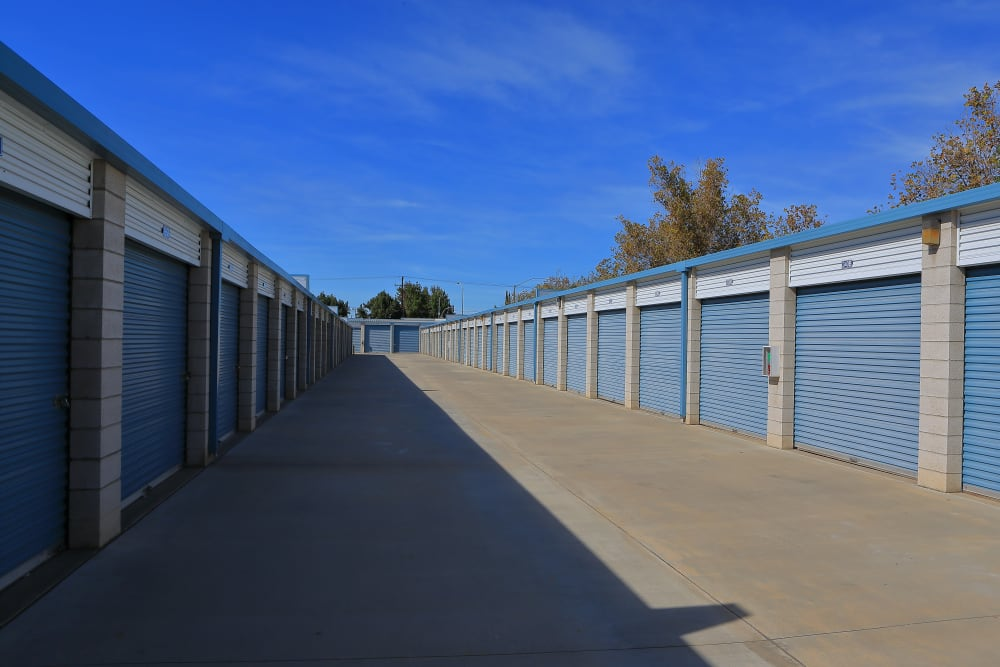 Outdoor units at Storage Solutions in Moreno Valley, California