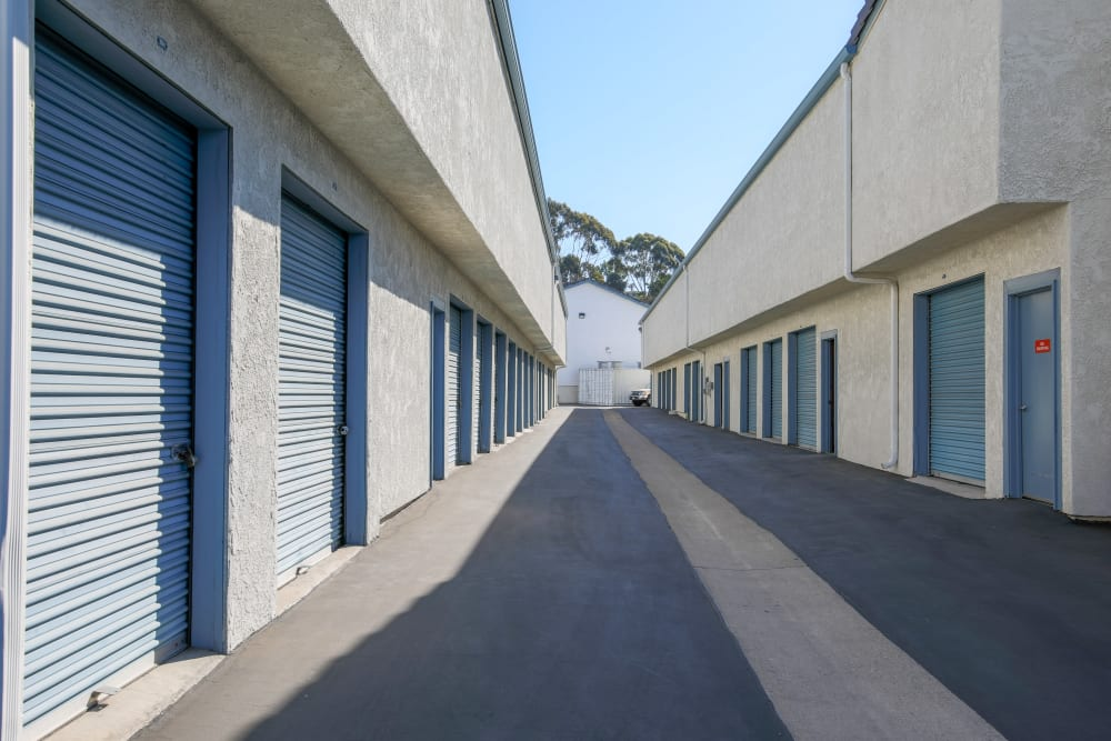 Drive-up access at Storage Solutions in Capistrano Beach, California