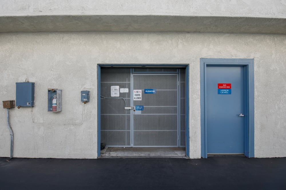 Elevator and amenities at Storage Solutions in Capistrano Beach, California