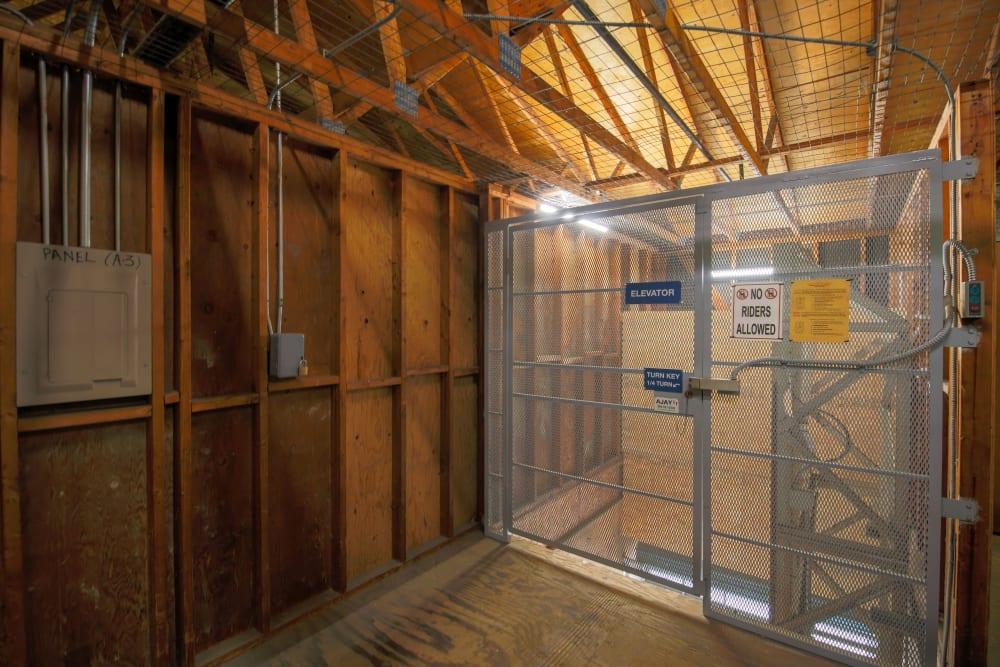 Interior storage units at Storage Solutions in Capistrano Beach, California