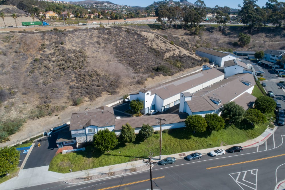 Aerial view of Storage Solutions in Capistrano Beach, California