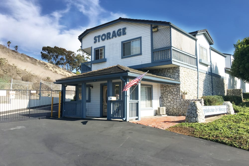 Front building at Storage Solutions in Capistrano Beach, California