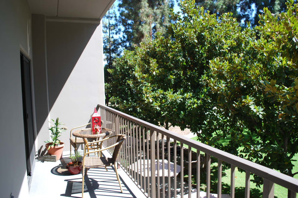 Private balcony at Pasadena Highlands in Pasadena, California
