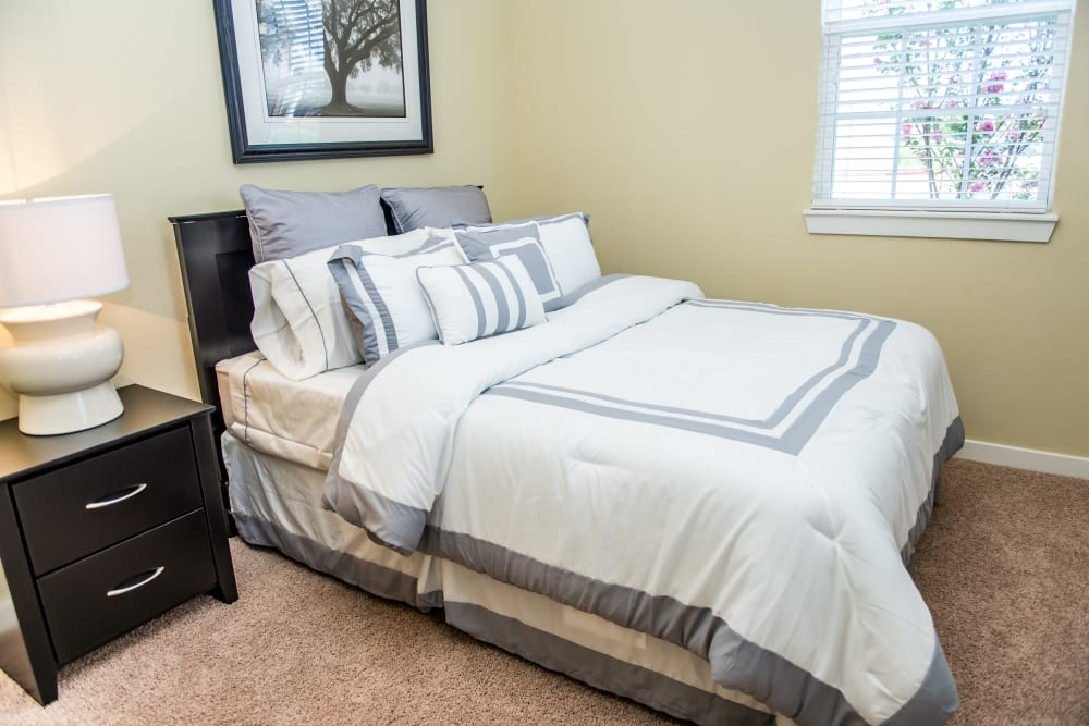 Spacious bedroom at Traditions at Westmoore in Oklahoma City, Oklahoma.