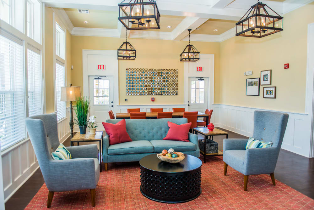 Resident lounge at Traditions at Westmoore in Oklahoma City, Oklahoma,.