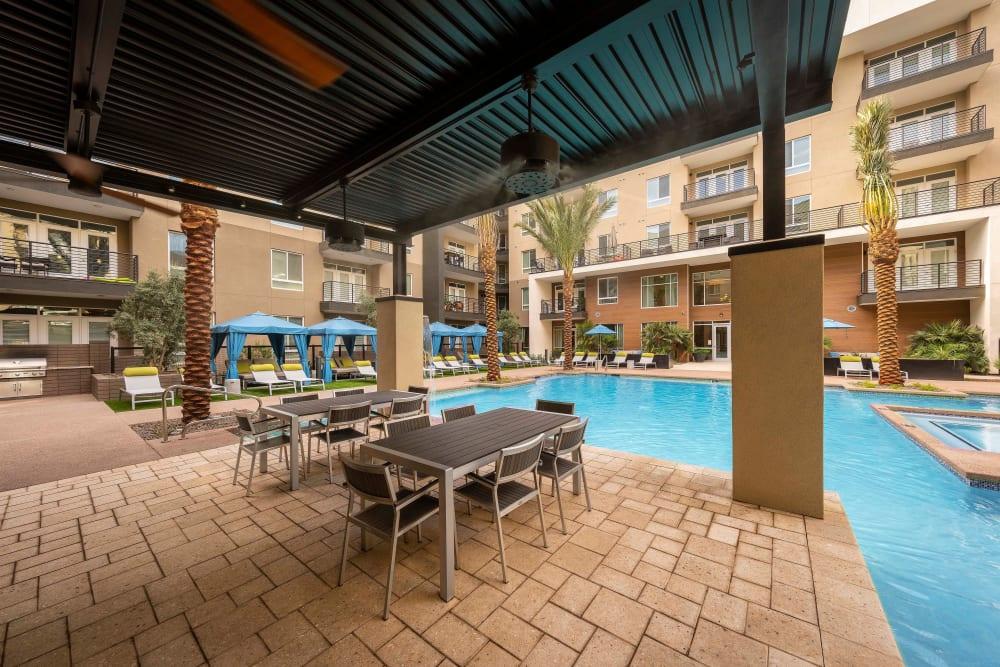 Beautiful swimming pool area at Carter in Scottsdale, Arizona