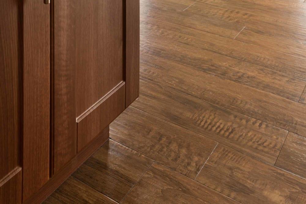 Wood style floors in select homes at San Hacienda in Chandler, Arizona