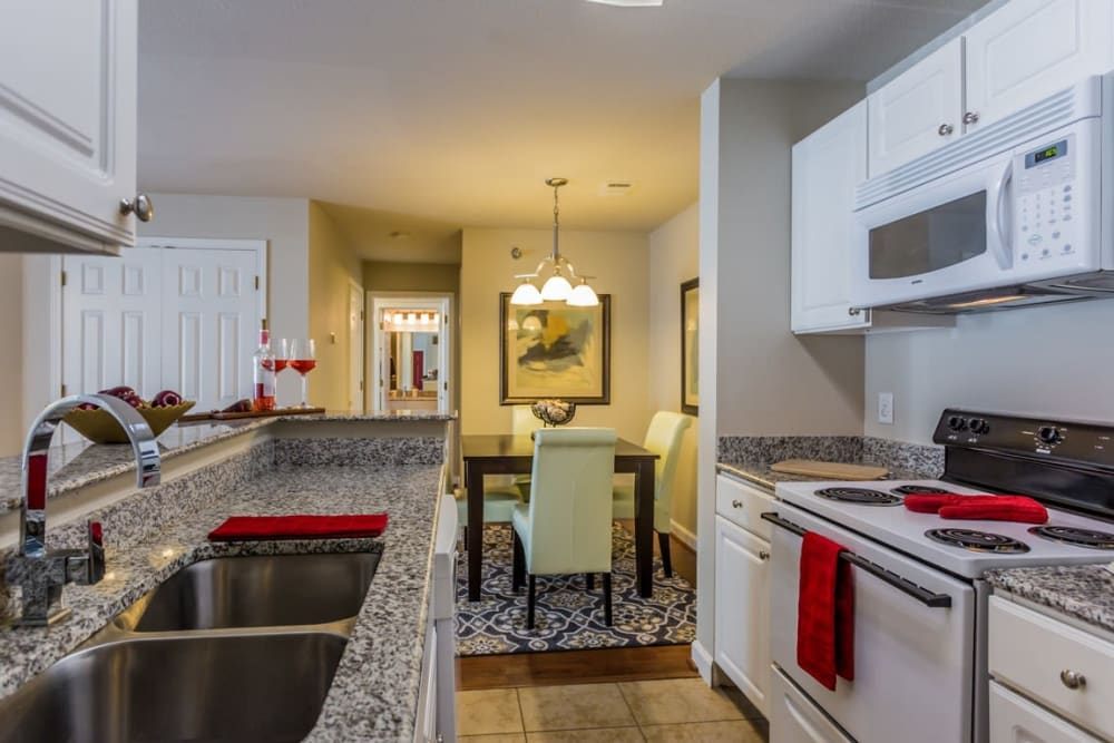 Granite countertops at River Pointe in North Little Rock, Arkansas.