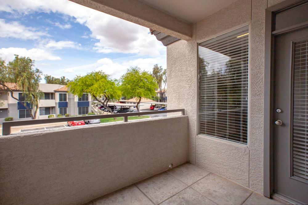 Balcony at The Retreat Apartments in Phoenix, Arizona