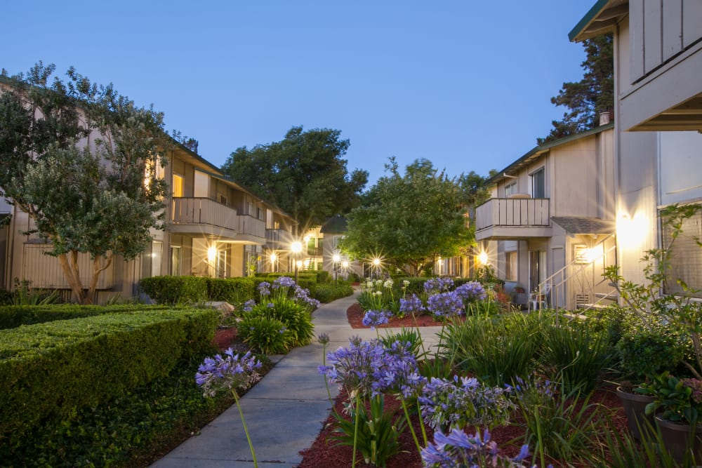 Exterior of Appletree Apartments' buildings in Campbell, California