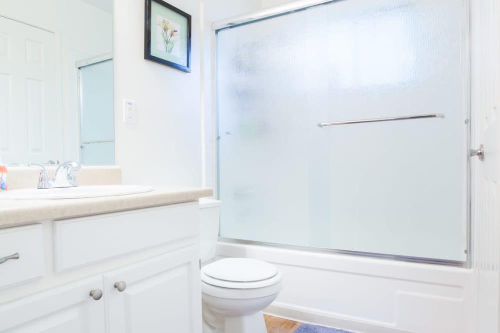 Bathroom at Cedartree Apartments in Santa Clara, California