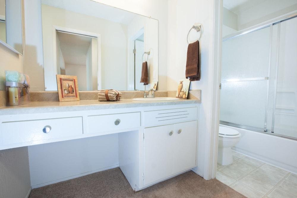Bathroom at Del Coronado Apartments in Alameda, California