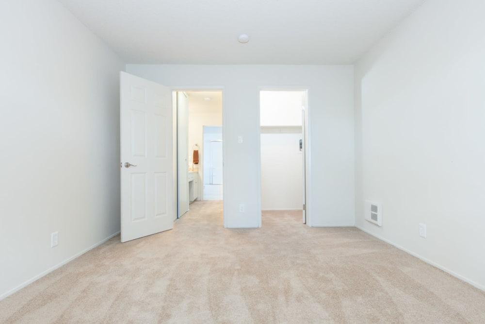 Master bedroom at Del Coronado Apartments in Alameda, California
