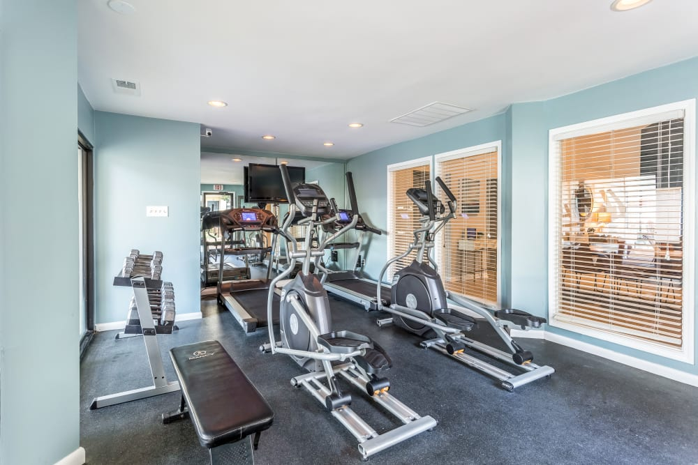 Fitness center at Poplar Place in Memphis, Tennessee