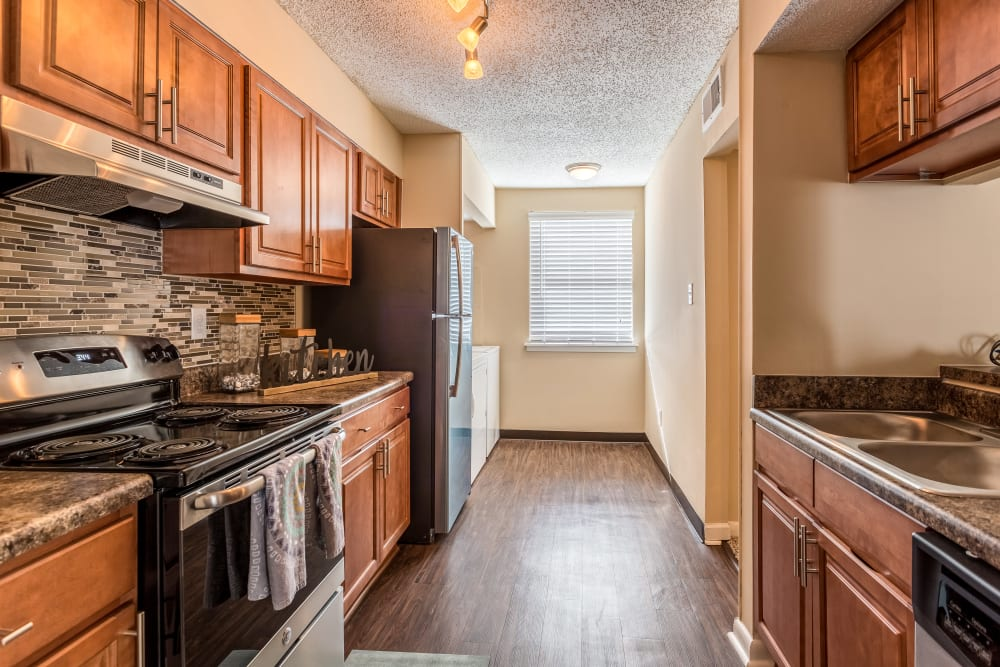 Kitchen model at Poplar Place in Memphis, Tennessee