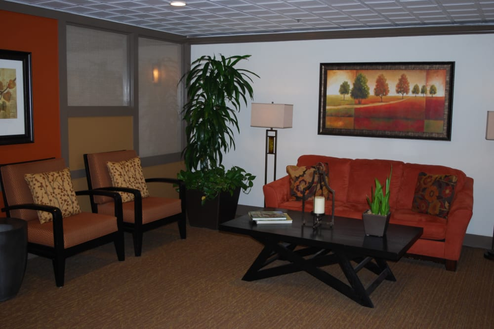 Lobby area at Pasadena Highlands in Pasadena, California