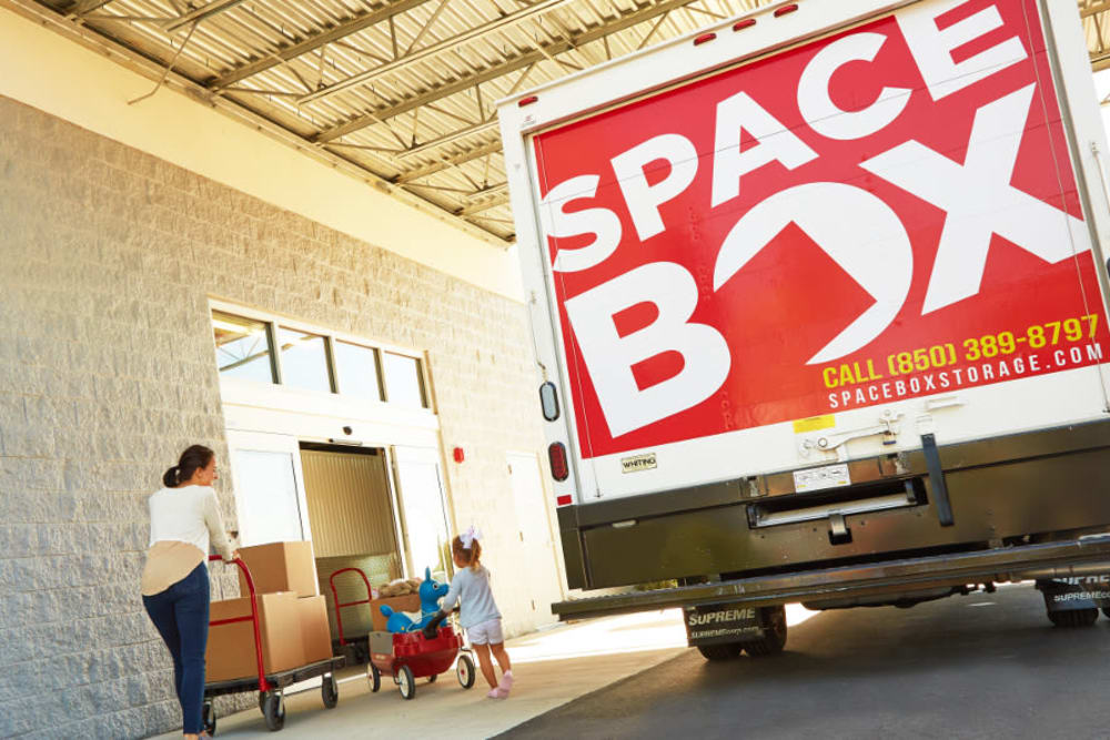 Free moving truck available at Spacebox Storage in Fort Myers, Florida.