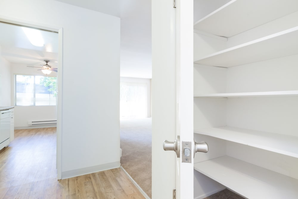 Hallway closet for extra storage at The Glens Apartments in San Jose, California