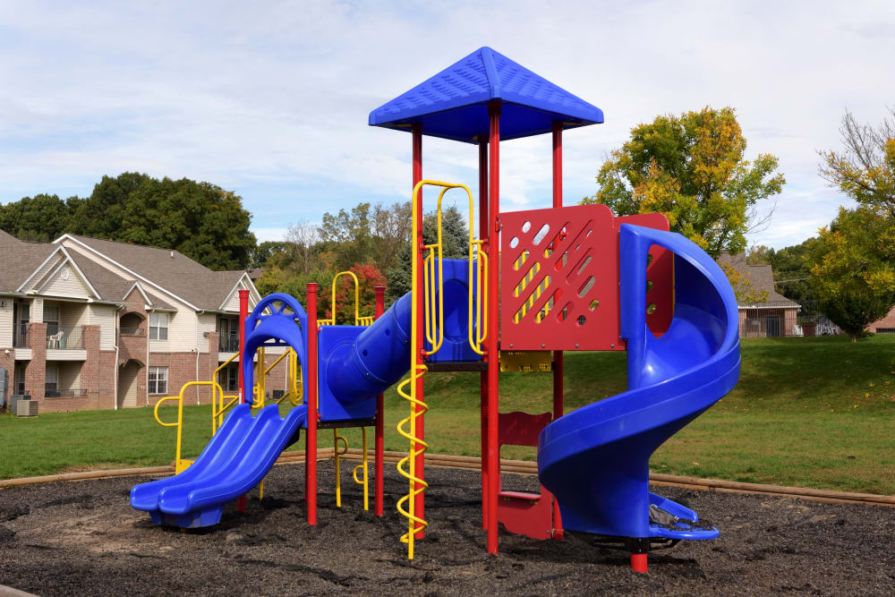 Community playground in Akron, Ohio at Cascade Falls Apartments
