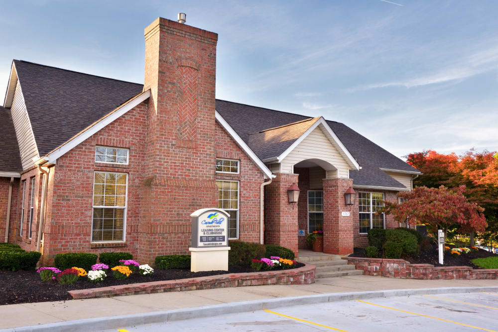 Leasing office at Cascade Falls Apartments in Akron, Ohio