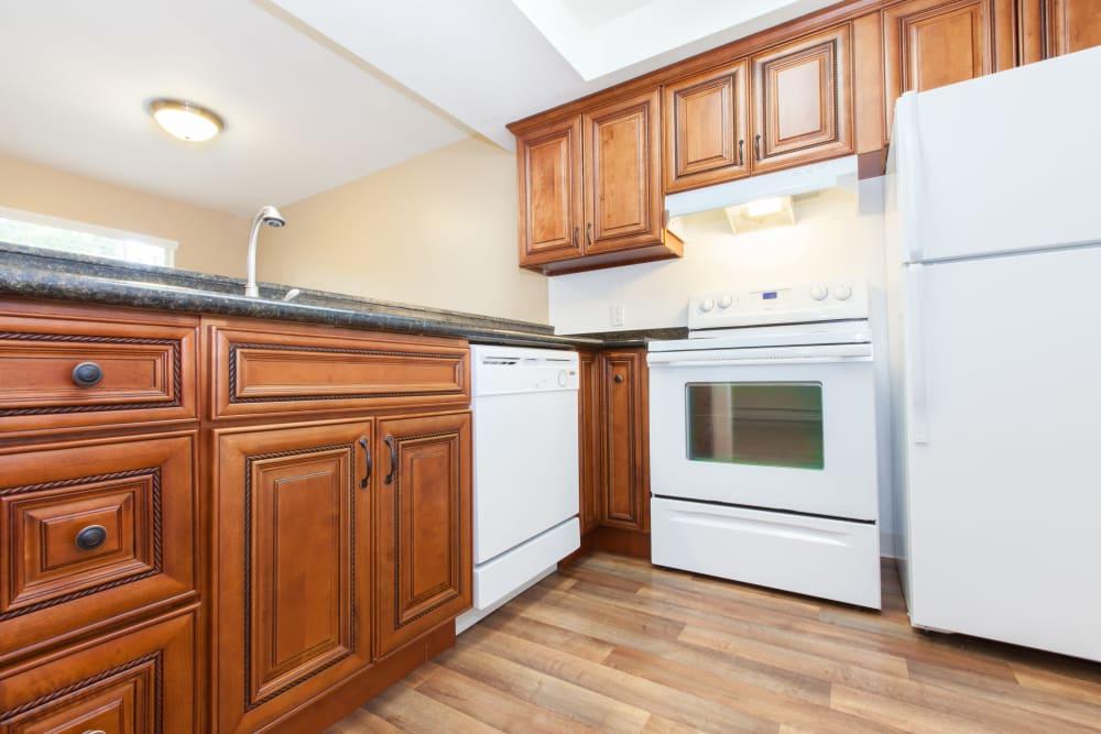 Fully equipped kitchen at Normandy Park Apartments in Santa Clara, California