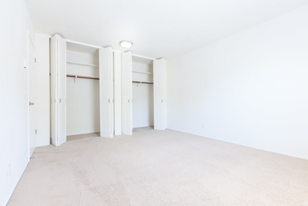 Spacious bedroom at Normandy Park Apartments in Santa Clara, California