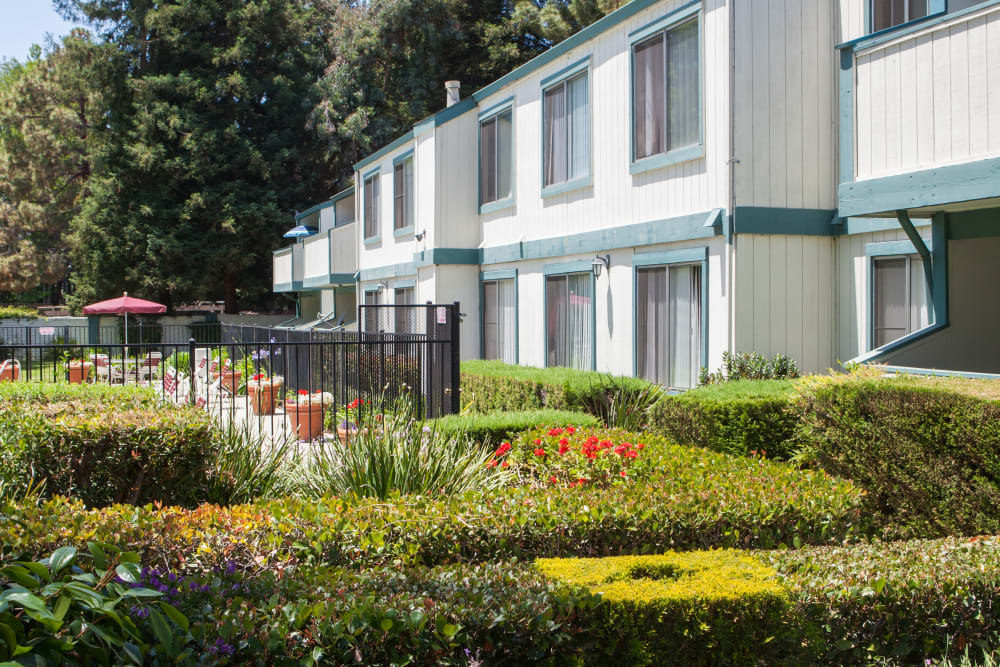Exterior of Oak Pointe Apartments in Fremont, California