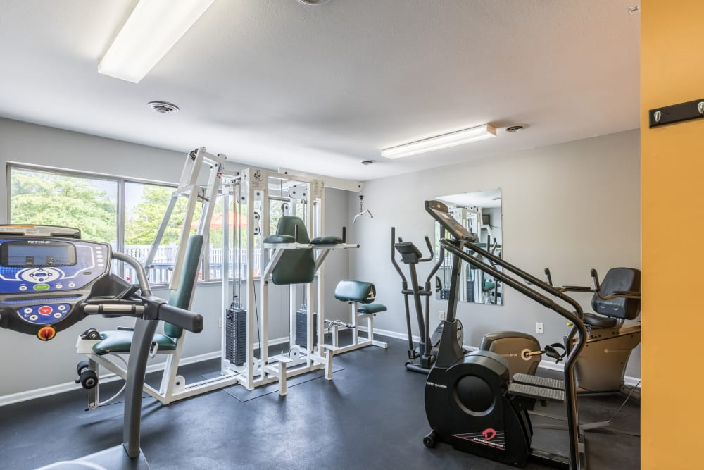 Fitness center at Waters Edge Apartments in Lansing, Michigan