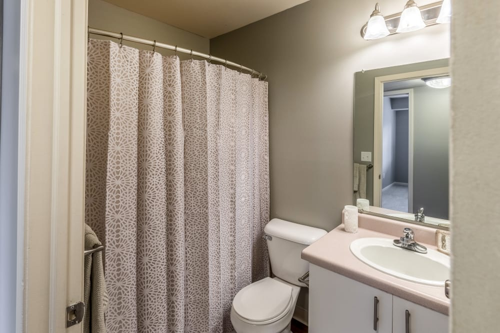 Bathroom model at Waters Edge Apartments in Lansing, Michigan