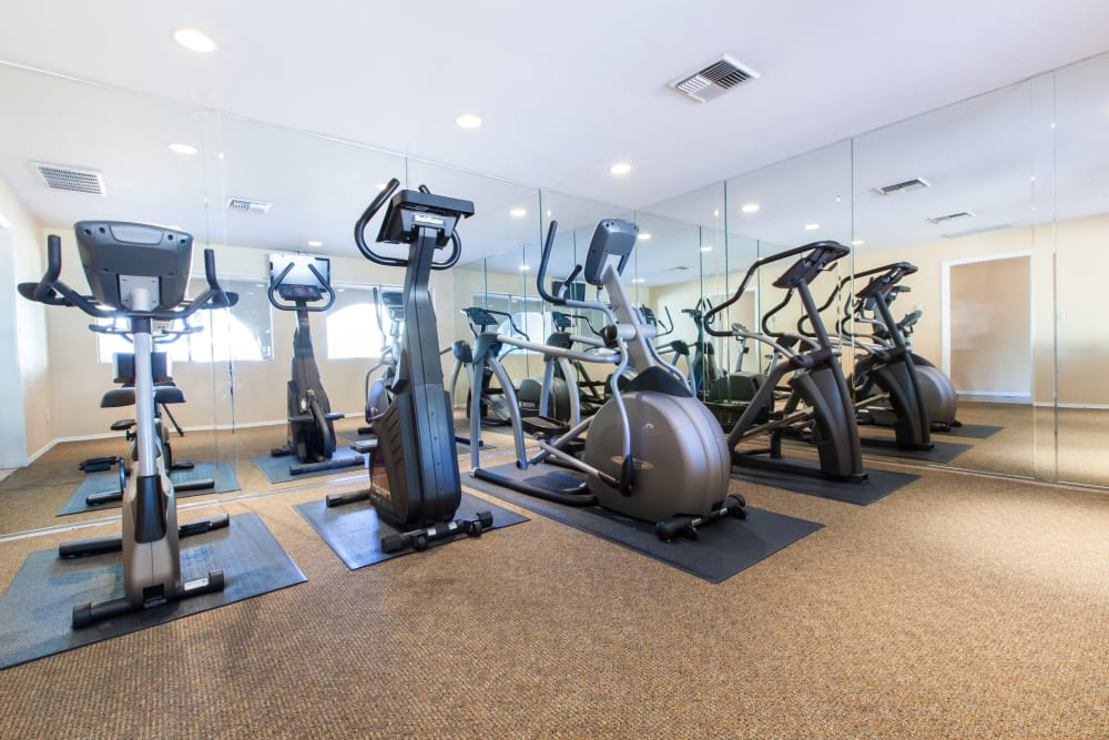 Fitness center at The Monterey in San Jose, California