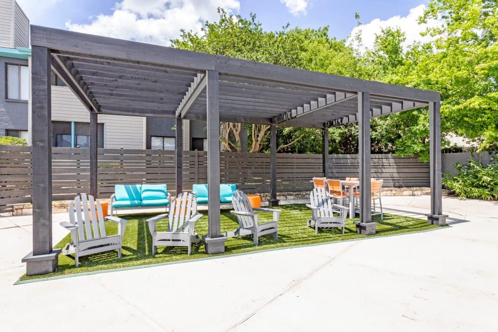 Beautiful BBQ Area at EnVue Apartments in Bryan, Texas