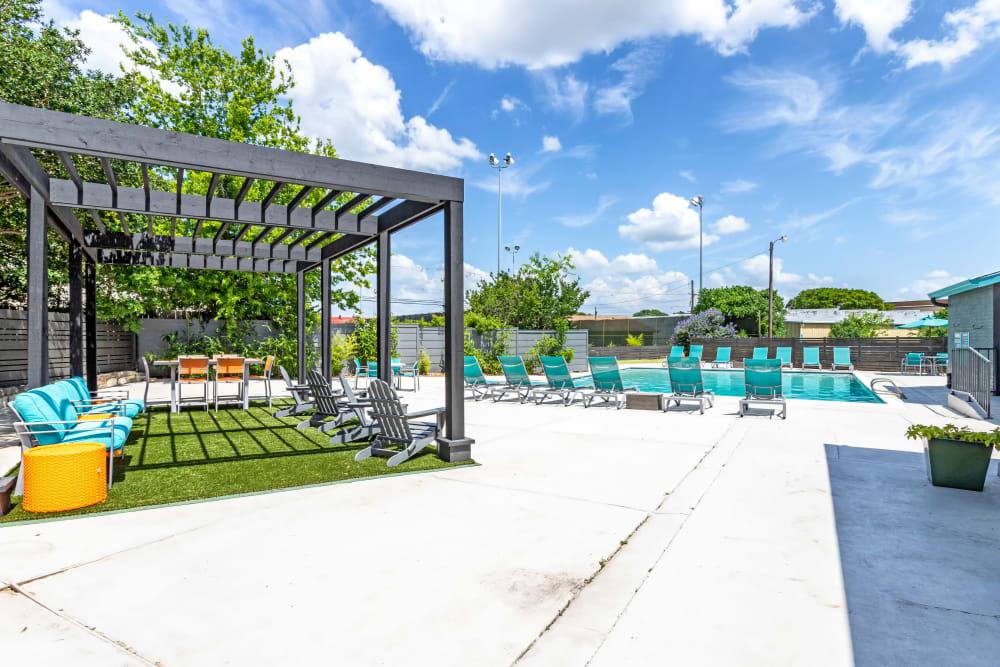 Modern Swimming Pool at EnVue Apartments in Bryan, Texas