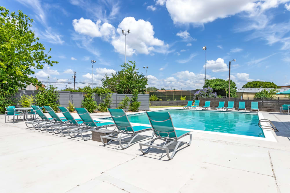 EnVue Apartments offers a Beautiful Swimming Pool in Bryan, Texas