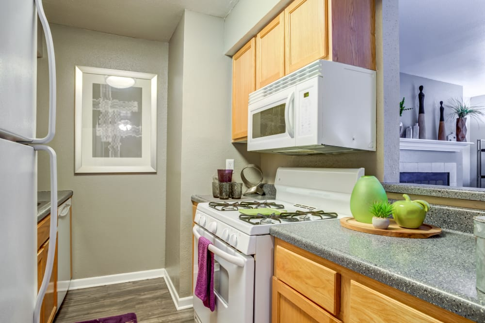 Kitchen at Apartments in Bryan, Texas