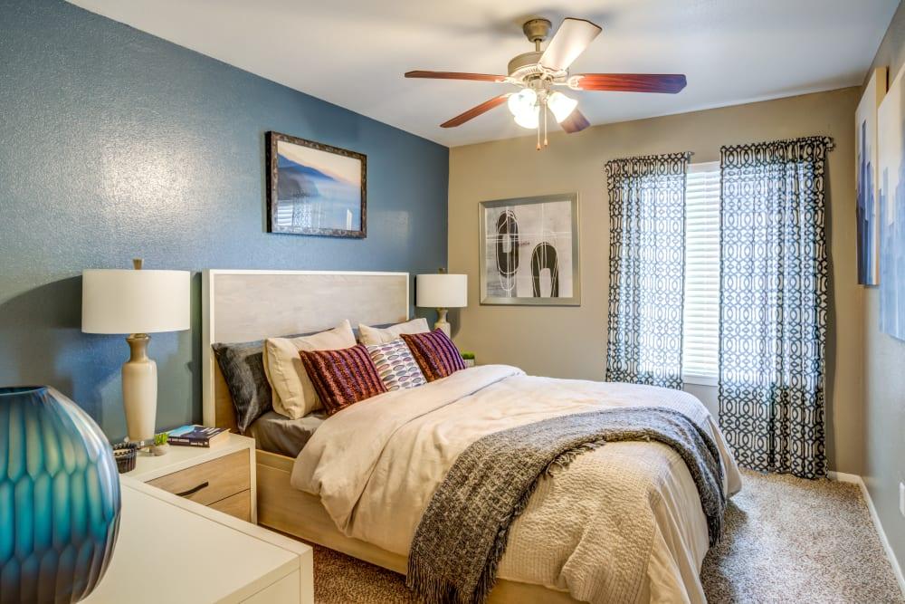 Bedroom at EnVue Apartments in Bryan, Texas