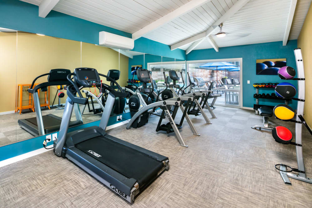 Fitness center at 1038 on Second in Lafayette, California