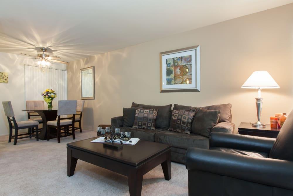 Spacious living room at Diablo Pointe in Walnut Creek, California