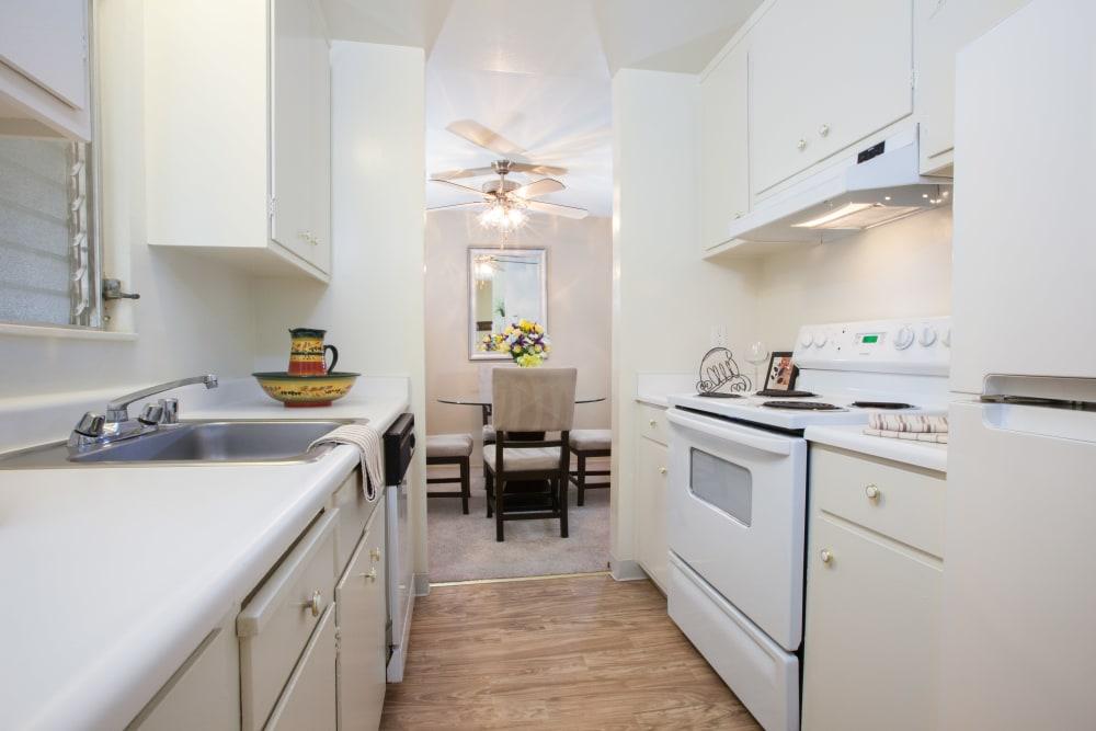 Bright, spacious kitchen at Diablo Pointe in Walnut Creek, California