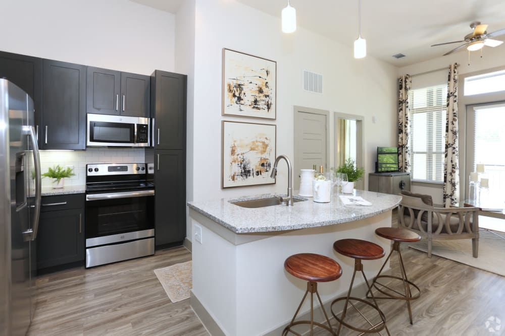 Spacious, bright kitchen at The District at Windy Hill in Atlanta, Georgia