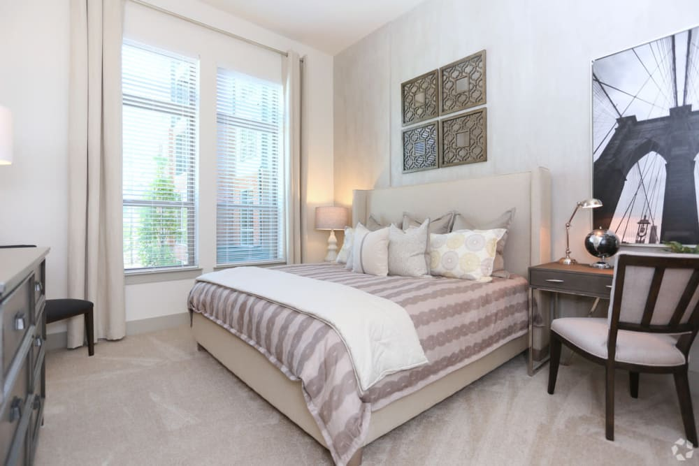 Spacious bedroom at The District at Windy Hill in Atlanta, Georgia