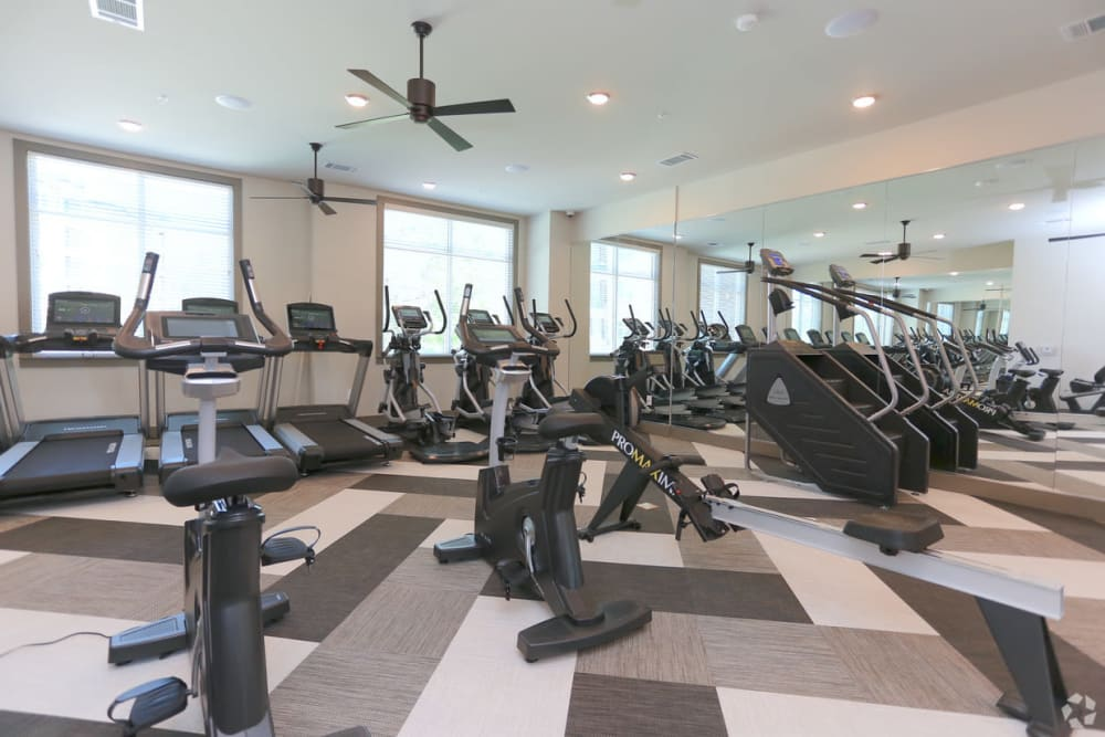 Fitness center at The District at Windy Hill in Atlanta, Georgia
