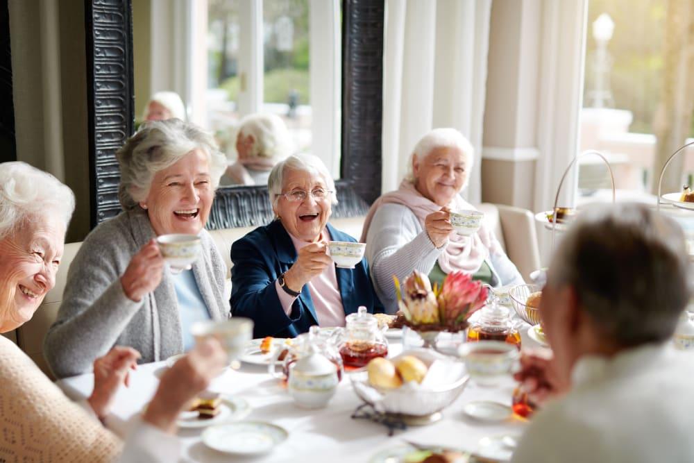 Harmony Senior Services Residents Enjoying Afternoon Tea