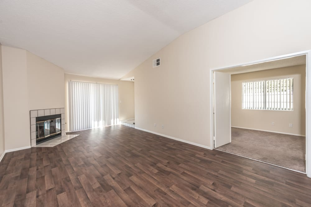 Large open room in model at Sonora at Alta Loma in Alta Loma, California