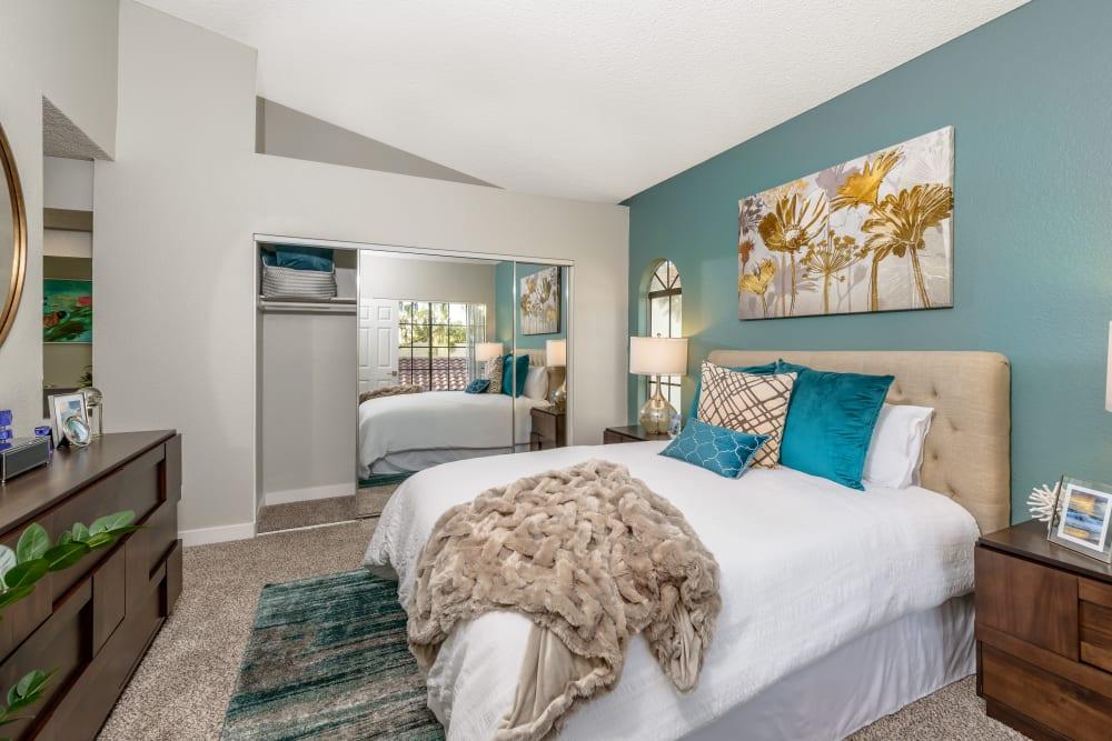 Master bedroom model at Sonora at Alta Loma in Alta Loma, California