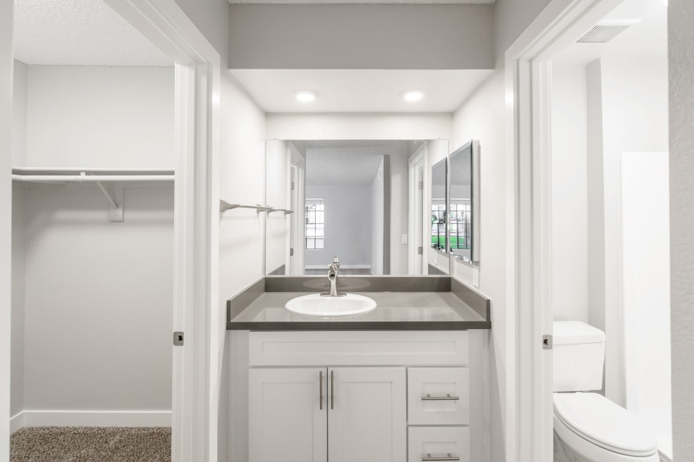 Bathroom model layout at Sonora at Alta Loma in Alta Loma, California