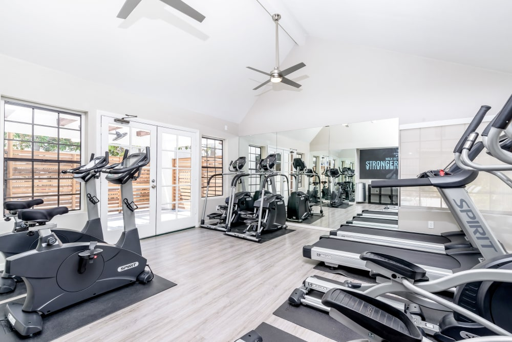 Workout room at Sonora at Alta Loma in Alta Loma, California