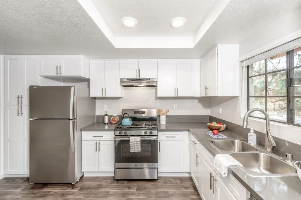 Bright kitchen at Sonora at Alta Loma in Alta Loma, California