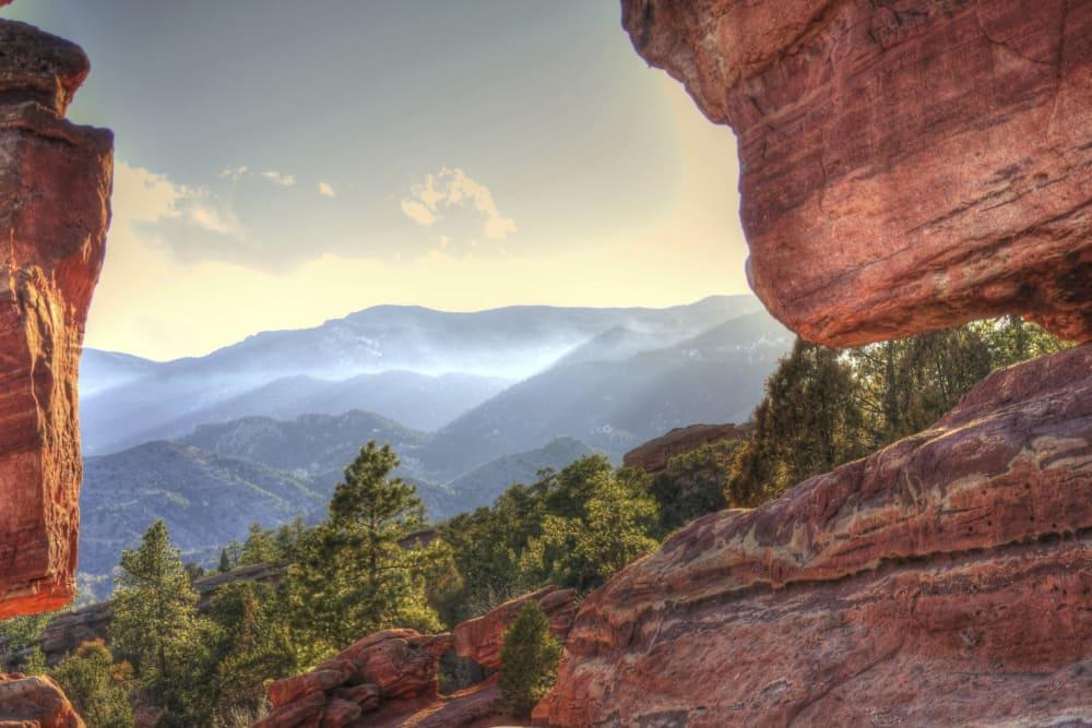 Beautiful mountain views in Colorado Springs, Colorado near FalconView