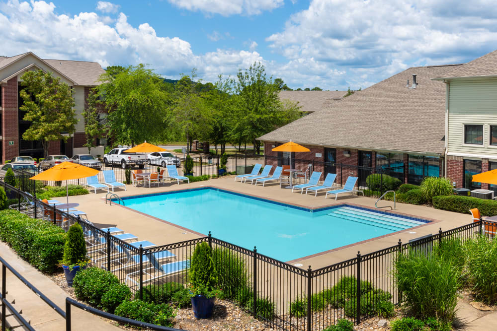 The swimming pool in Little Rock, Arkansas at The Retreat at Chenal